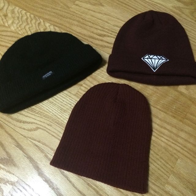 3 Beanies/Touques