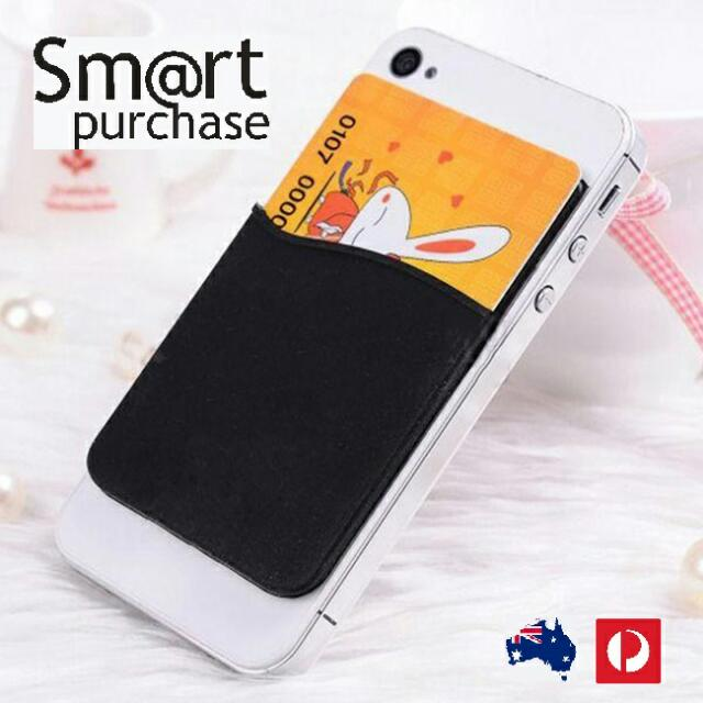 3M Adhesive Smart Phone Silicone Wallet Opal Card Holder