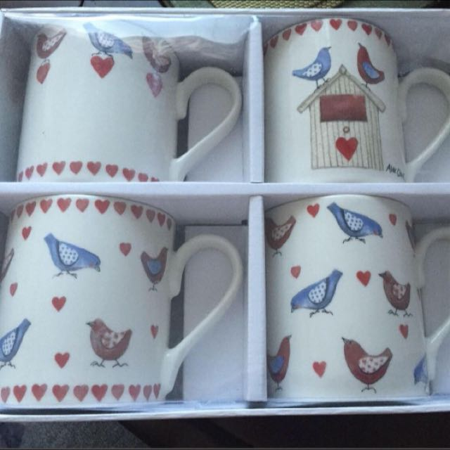 4 Queens Alex Clark 'Love Birds' mugs
