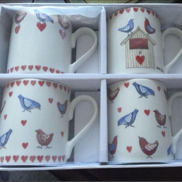 4 Queens Alex Clark 'Love Birds' mugs