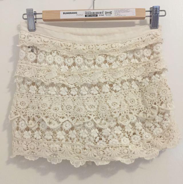 韓 蕾絲裙褲