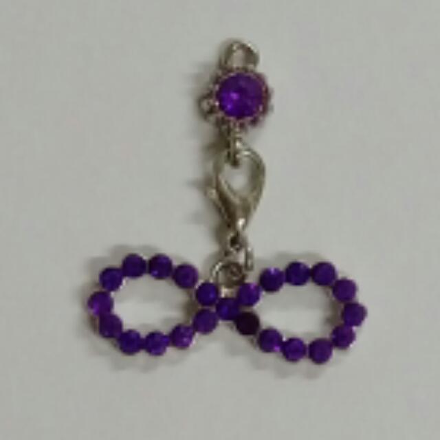 全新 紫色 蝴蝶結 墜子 (可拆)#妳喜歡我送妳
