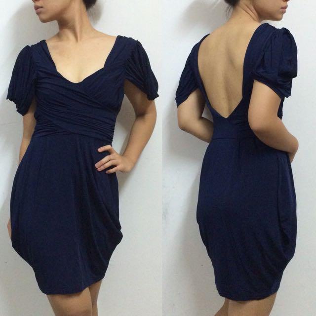 🆕 ASOS Low Back Cap Sleeve Dress