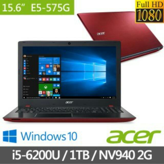 ACER  15吋i5第六代筆電 E5-575G-530T