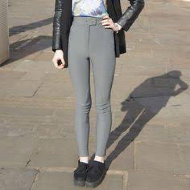 American Apparel Grey Riding Pants Small