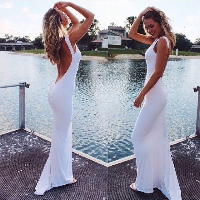 Amy Taylor White Dress S-M