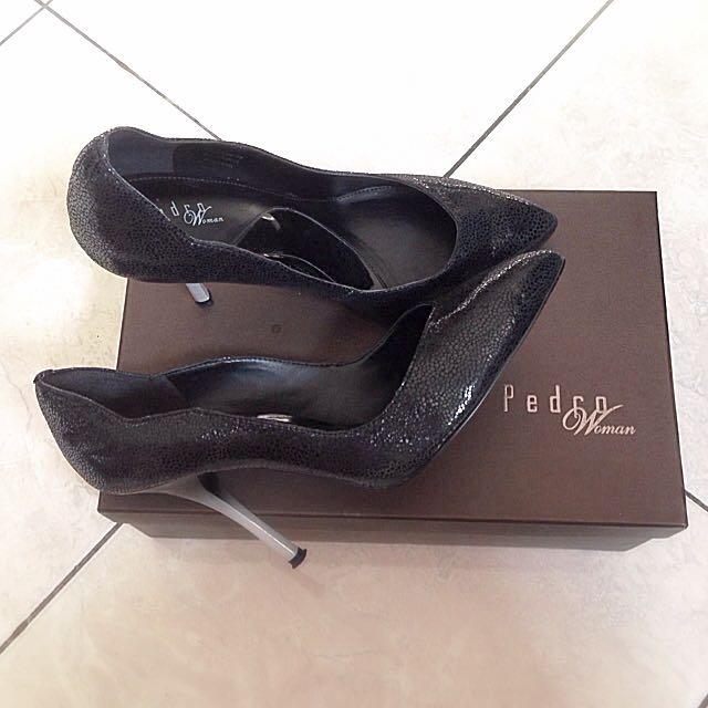 Black Leather Pedro Pumps Shoes