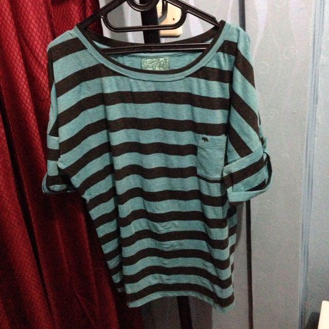Blue Black Stripe T-Shirt