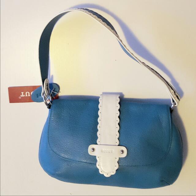 Blue Scout genuine leather handbag
