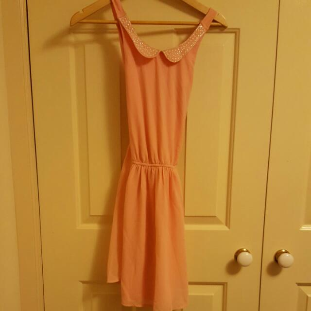 BNWT Dotti Pink X Back Dress Sz 8