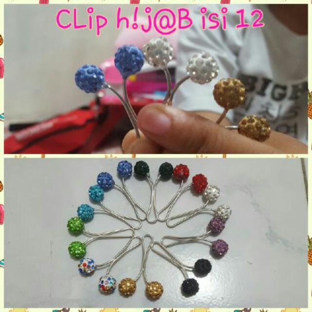 Clip Hijab Candyrock Besi Bulat
