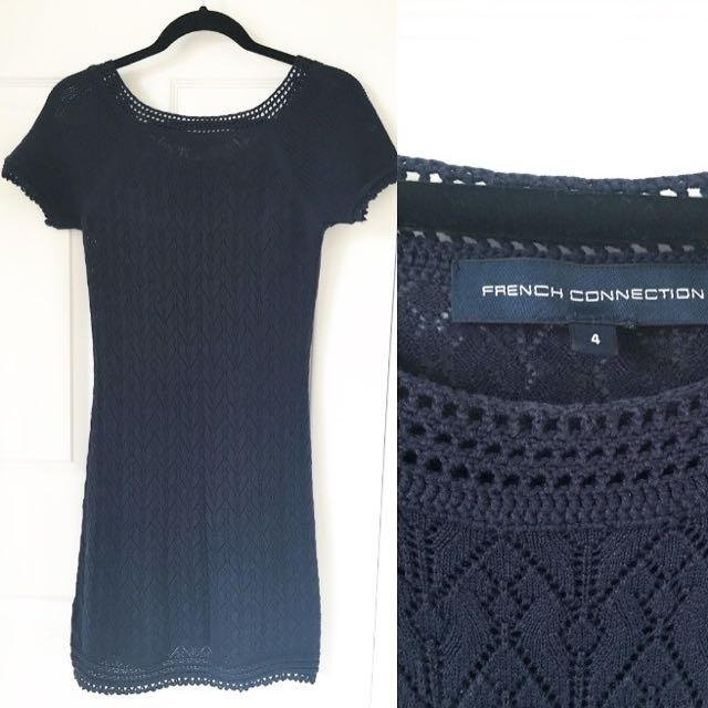 French Connection Navy Sweater T-shirt Dress