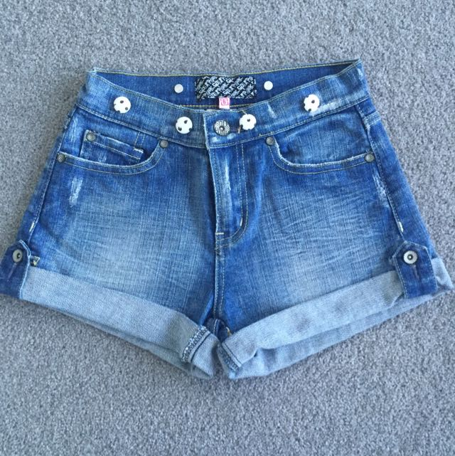 Golf Punk Denim Shorts