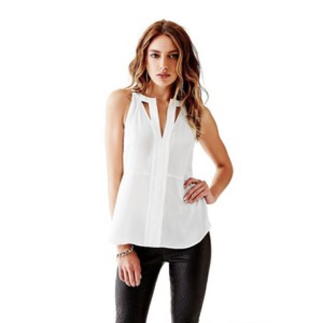 Guess - Sleeveless Cutout Popover Top