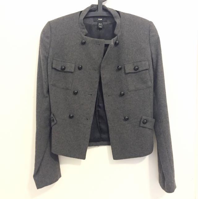 H&M中山裝款式外套