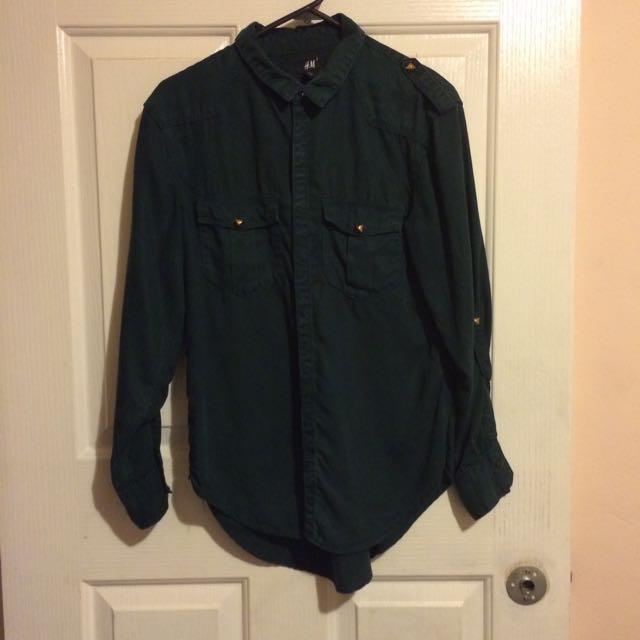 H&M Button Up Long Sleeve Shirt