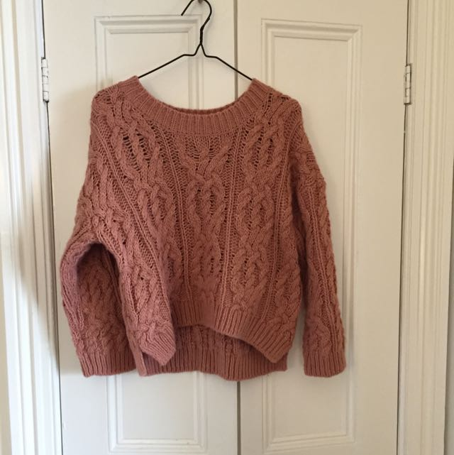 Knit Jumper In Peach