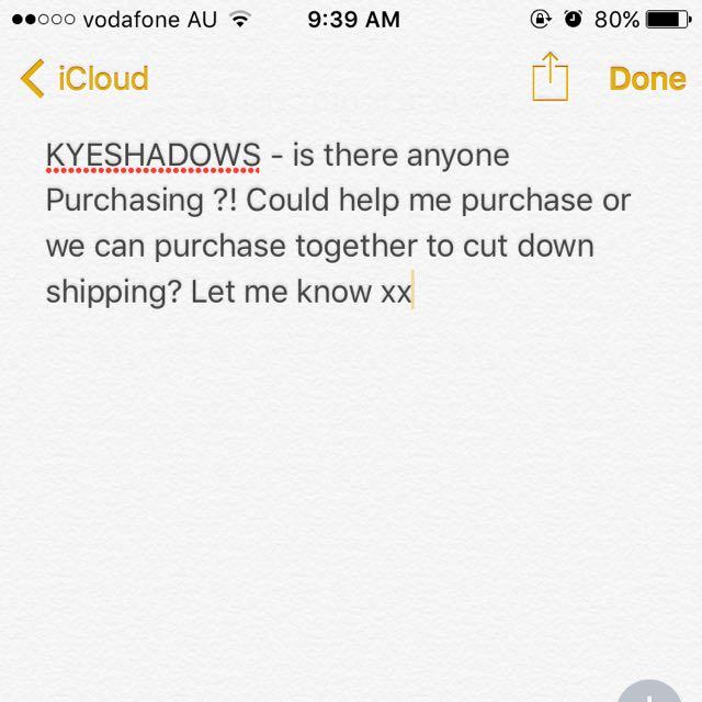 KYLIE - Kyshadows