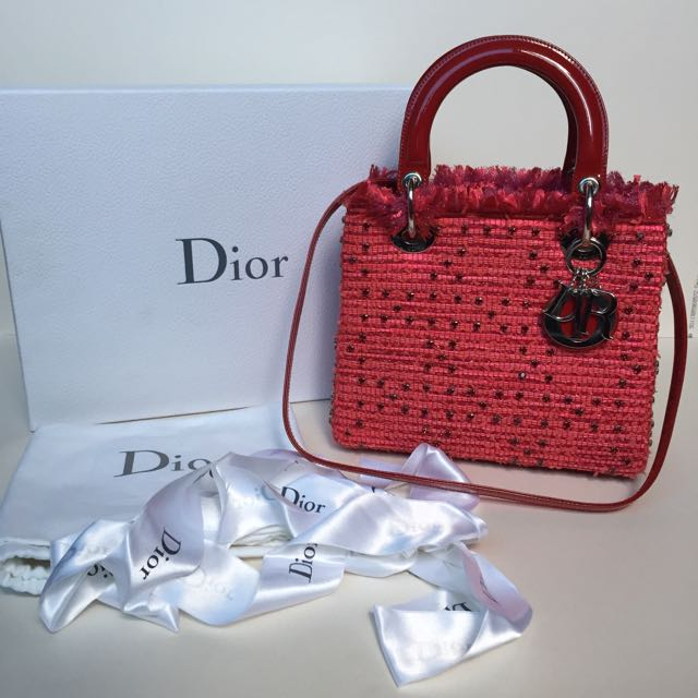 f5c434d25e9d Lady Dior Limited Edition Valentine s Day Red Bag Medium