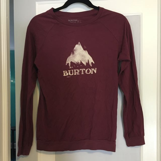 Maroon Burton Long Sleeve Top