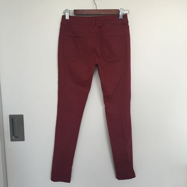 Maroon Coloured Jeans