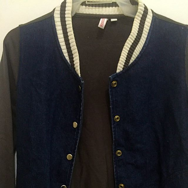 Penshoppe Denim Varsity Jacket