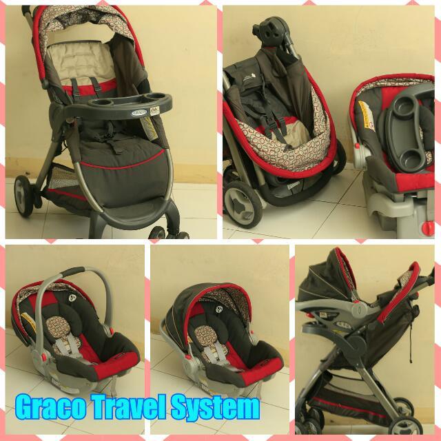 Preloved Graco Travel System (Stroller & Infant Car Seat