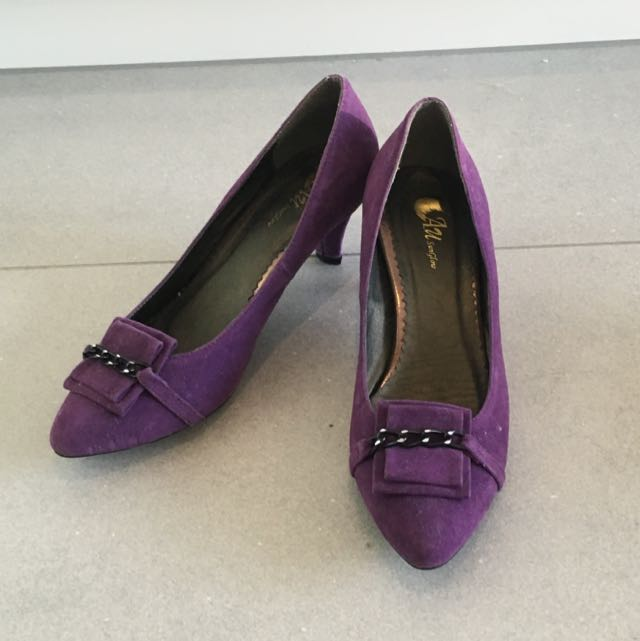 Purple Leather Shoes