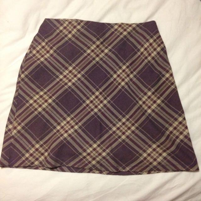 Purple Plaid Skirt