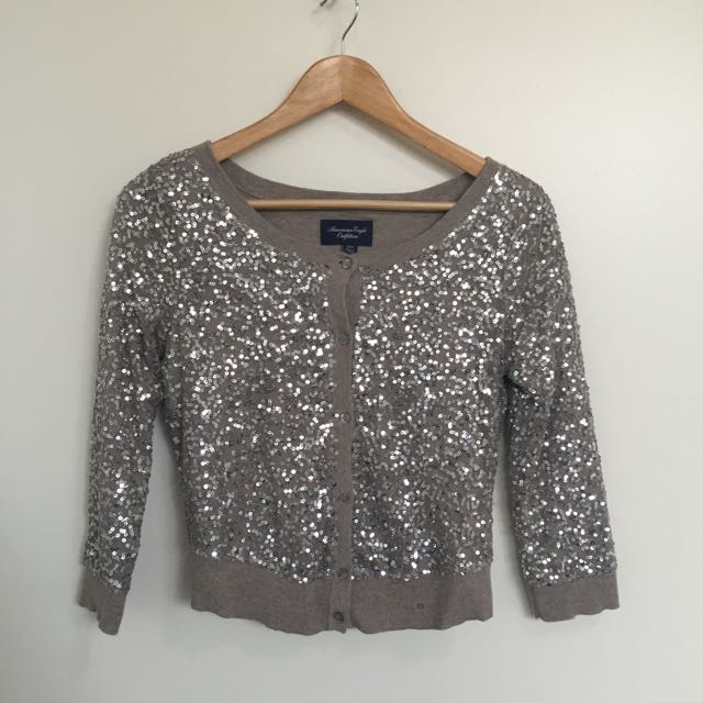 Silver Sequined Cardi