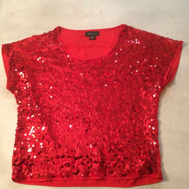 Sparkley Red Shirt