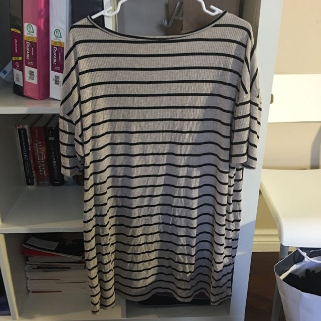 Striped Dress Size L (thin Knitted Material)