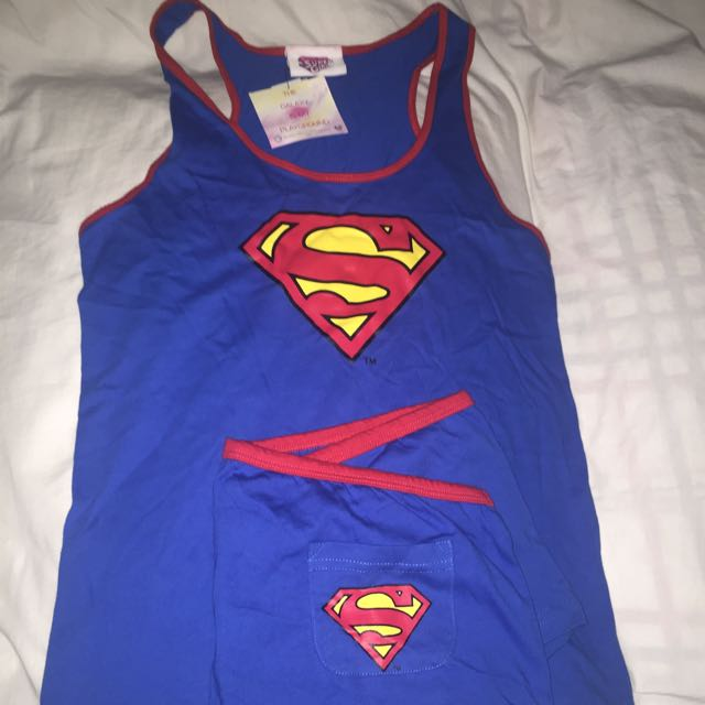 Topshop Superman Pajama Set