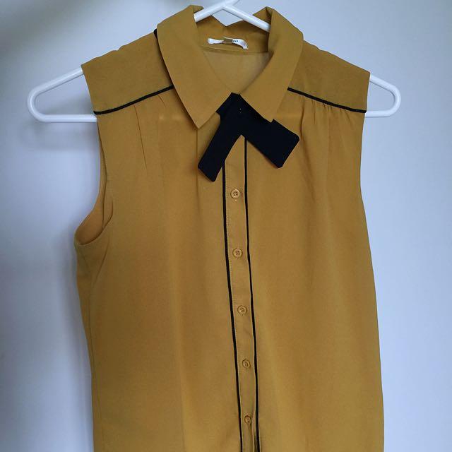 Valleygirl collared singlet shirt
