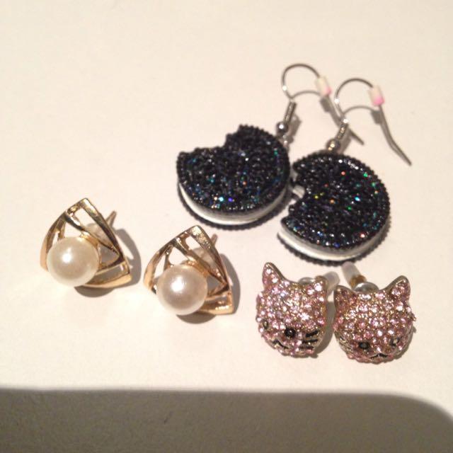Various New Earrings