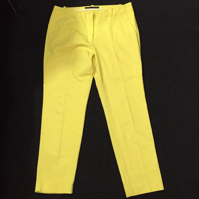 Zara Basic Yellow Trouser