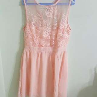 Embroidered Dress (Pink)