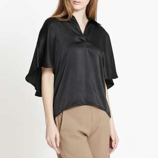 Pomelo Angelina Caped Blouse Black
