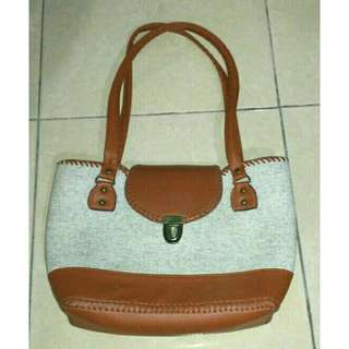 (Reprice) Syntethic Leather Bag Brown