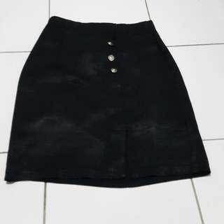 Black Span Skirt / Rok Kerja
