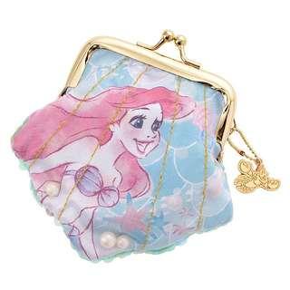 日本迪士尼Disney小美人魚貝殼型亮片珠扣口金零錢包
