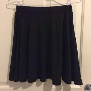 Temt Black Skater Skirt