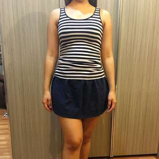 Stripy And Skirt Pull And Bear