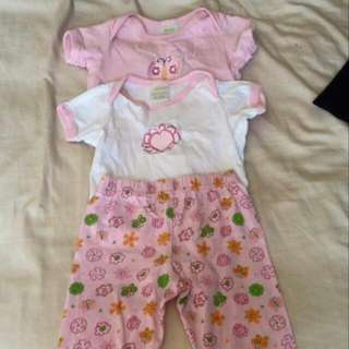 3 Piece 0-3 Month Girl