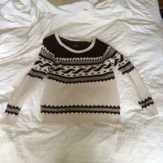 American Eagle Printed Wool Sweater