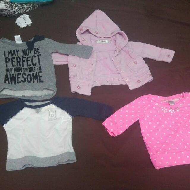 0-3 Month Girl Sweaters
