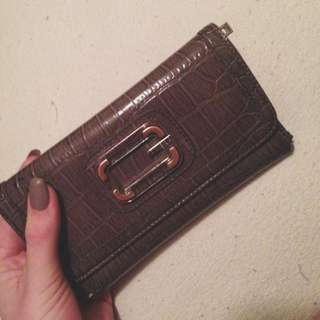 Grey Leather Guess Wallet