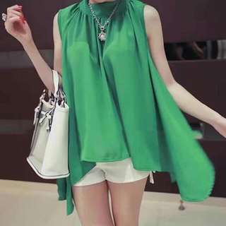 Korean Turtle-neck dolly chiffon blouse