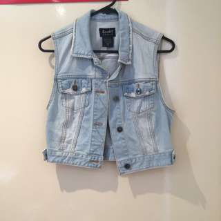 Bardot Denim Crop Vest