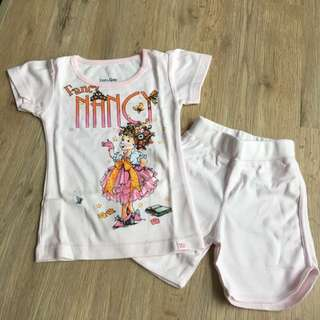 [18-24 mths] BN BabyGap 2 pcs Shirt and Short Set